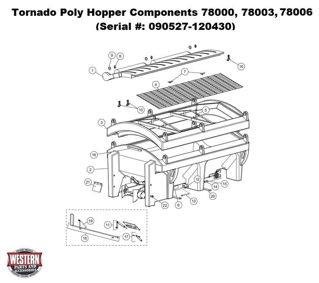Tornado Hopper Spreader - V-box