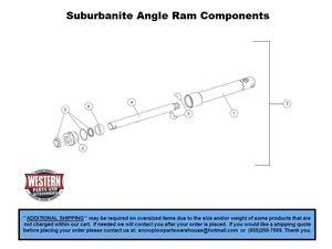 Straight Blade  UltraMount    Plows     Parts With    Diagrams     Western Products     Suburbanite