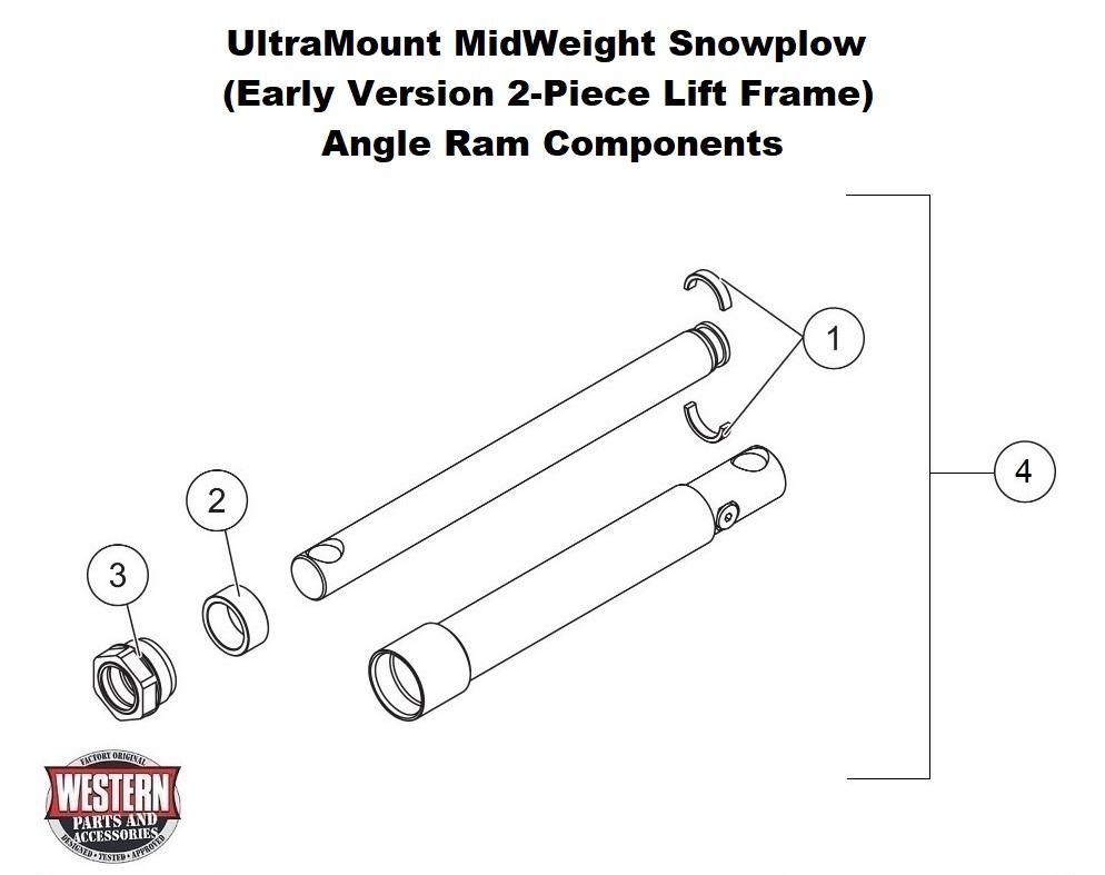 Midweight Snowplow Diagrams - Straight Blade Snowplow Diagrams
