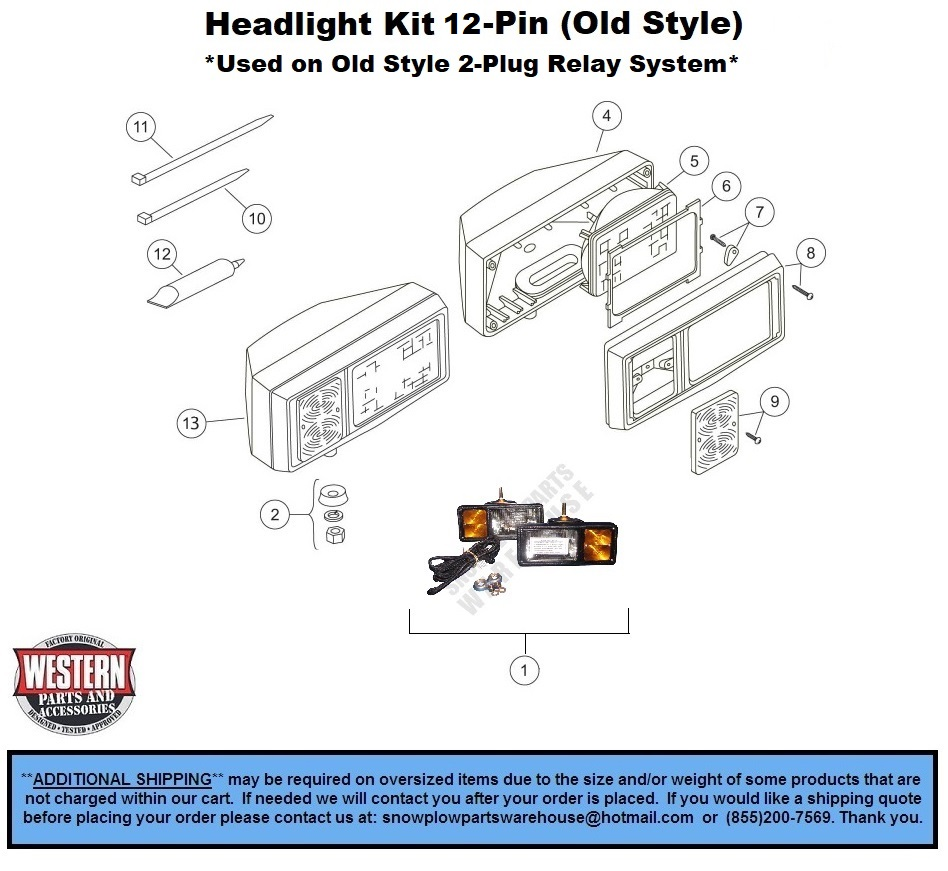 Western Unimount Wiring Diagram 12 Pin Detailed Schematics For Plow Lights Headlights Parts Mvp 96 Uni Mount Plows With Light