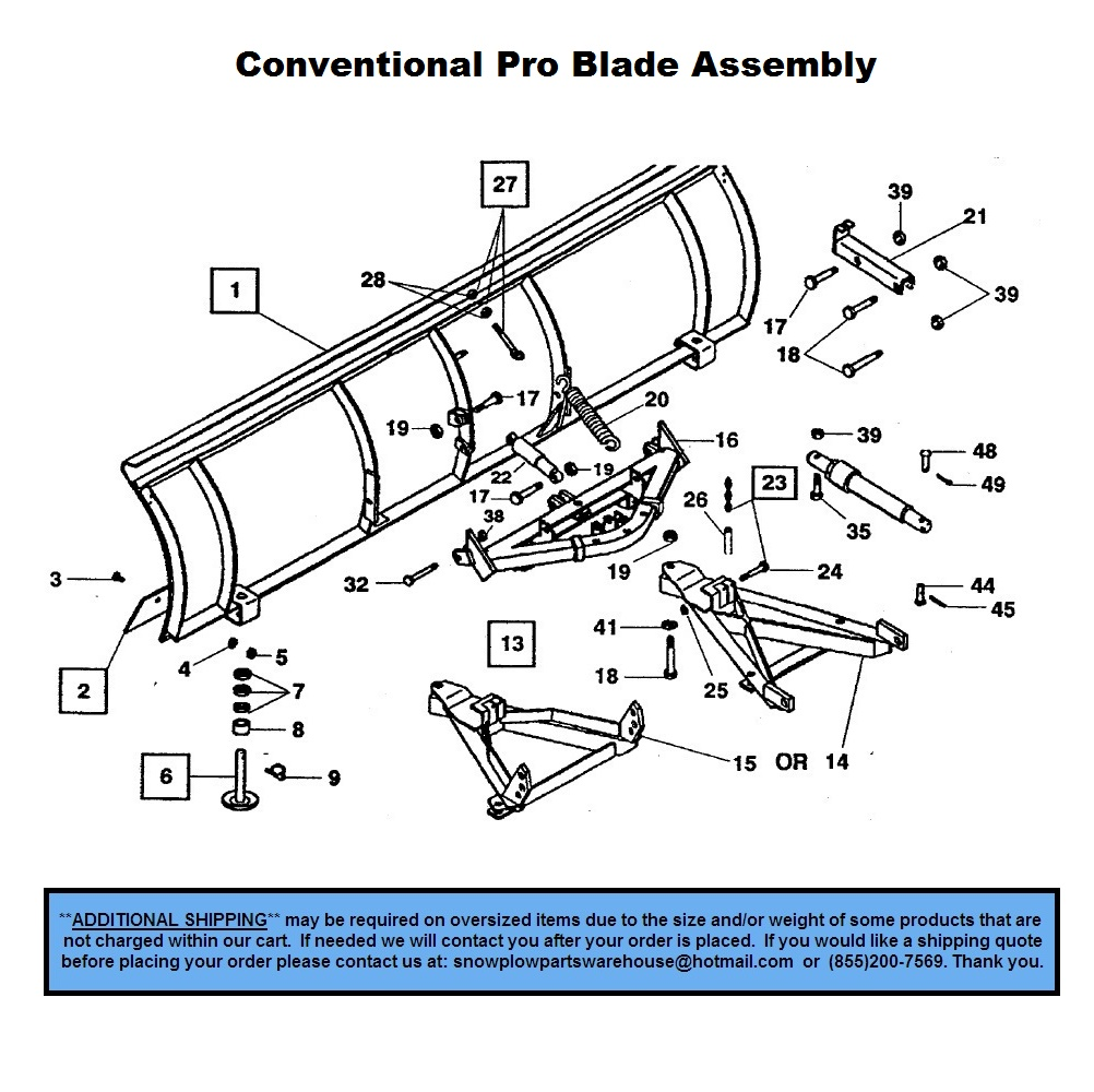 Pro Plow - Conventional - Part Diagrams - Western