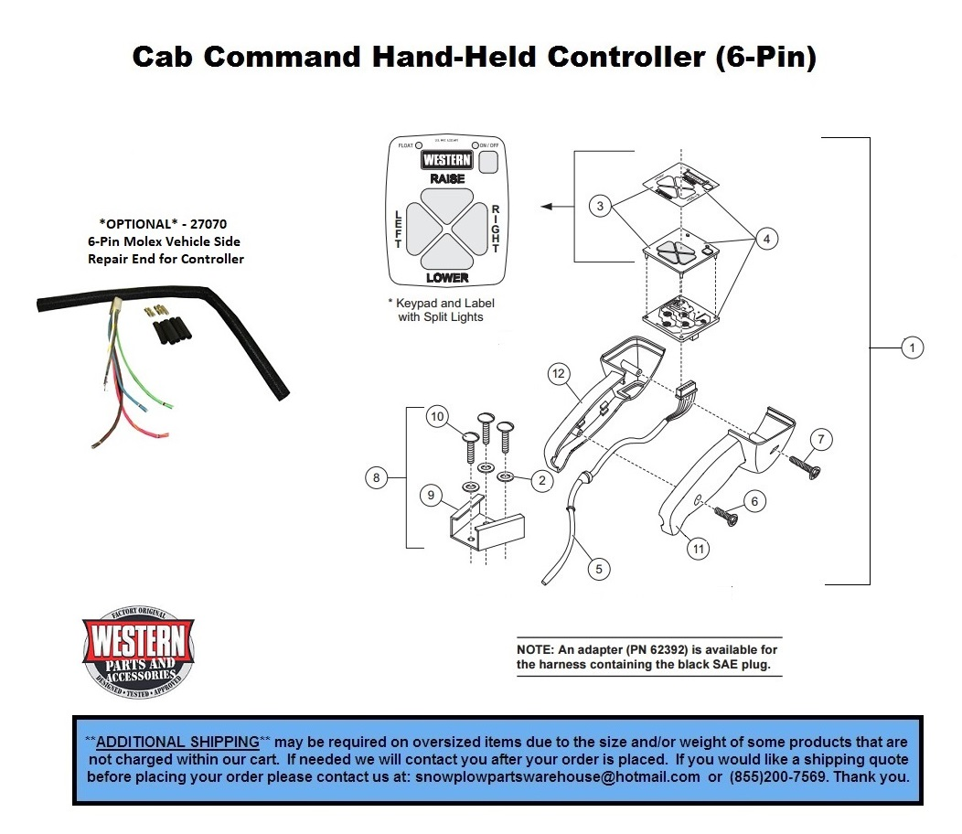 Controllers   Parts  Pro    Plow    Poly  UniMount  Part    Diagrams     Western  Cab Command Hand