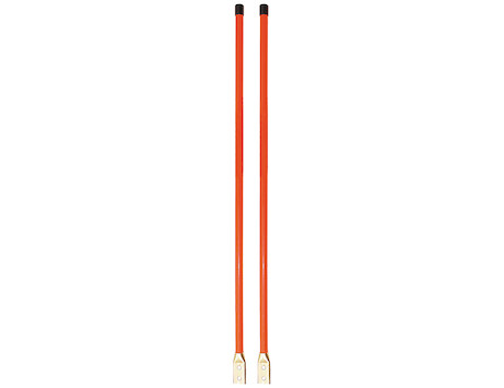 1308110 SAM Plow Parts, 3/4 x 36 Inch Fluorescent Orange Bolt-On Bumper Marker Sight Rods with Hardware