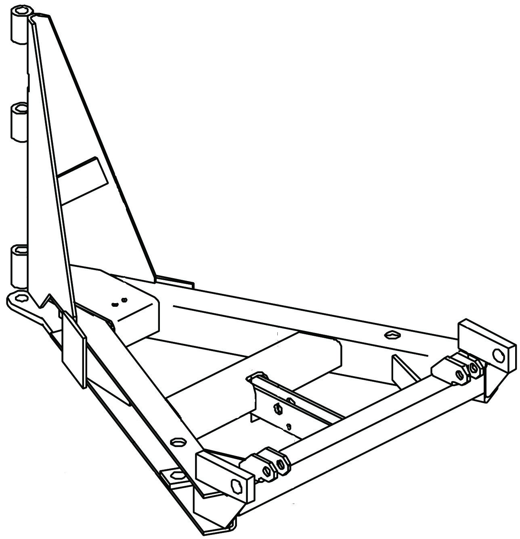 uni-mount v-plow  8 u0026 39 6 u0026quot   a-frame